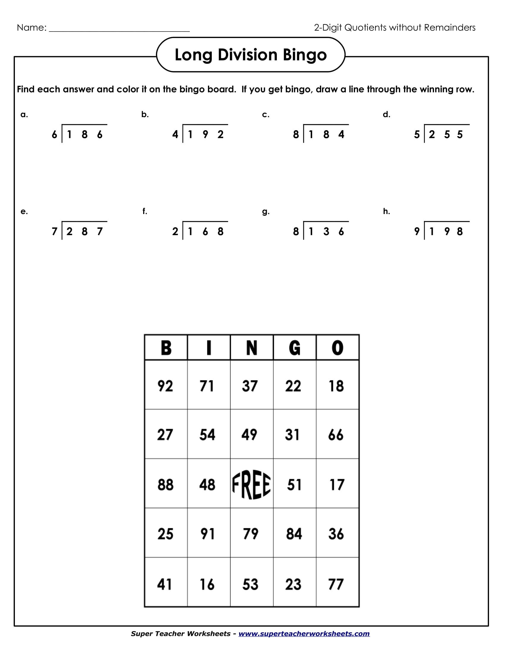 Super Teacher Worksheets Long Division 9 Math Worksheets for Students Pdf
