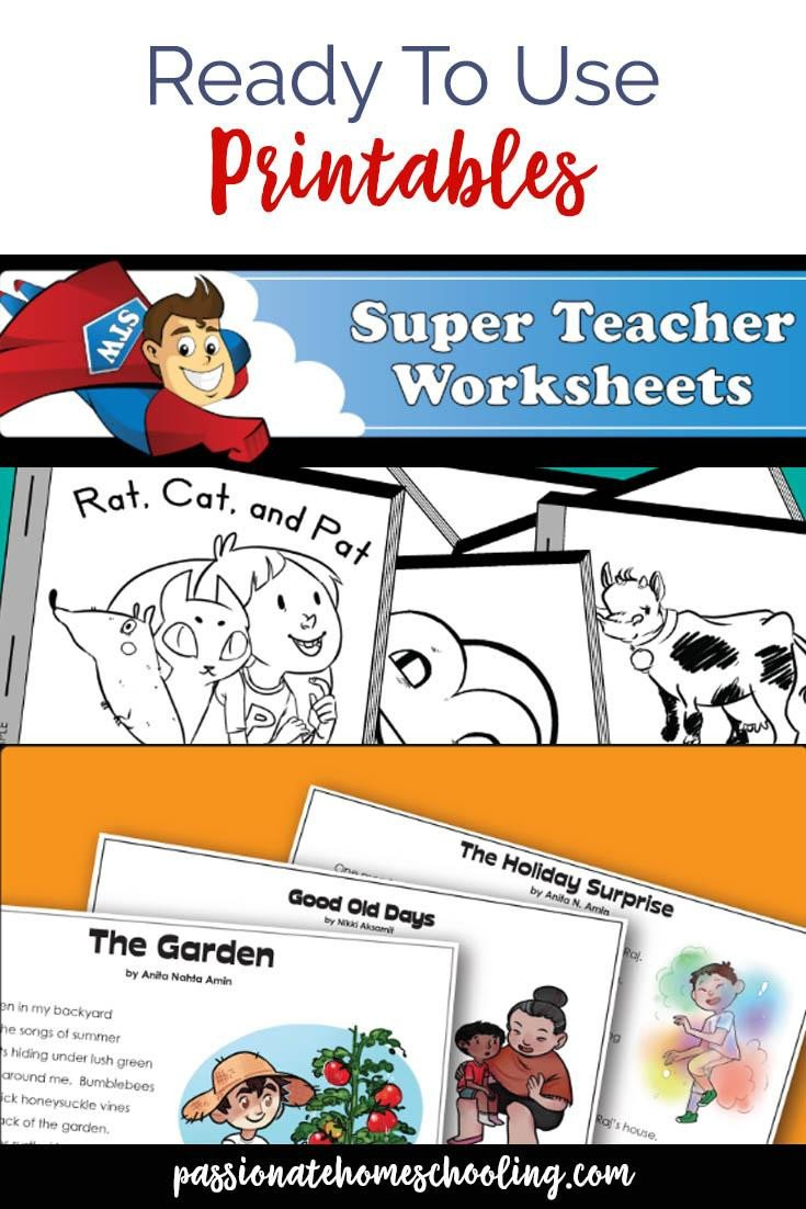 Super Teachers Worksheets Password My Super Teacher Worksheets