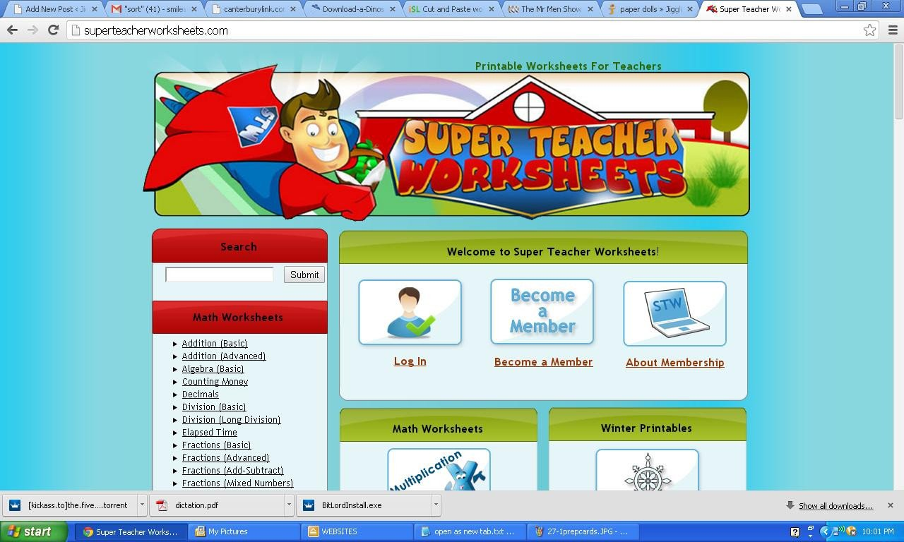 Super Teachers Worksheets Password Super Teacher Worksheets Username and Password 2014 the Best