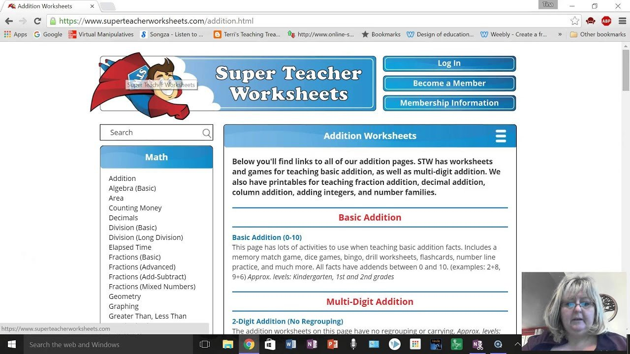 Superteacherworksheets Com Username Password Super Teacher Worksheets Site