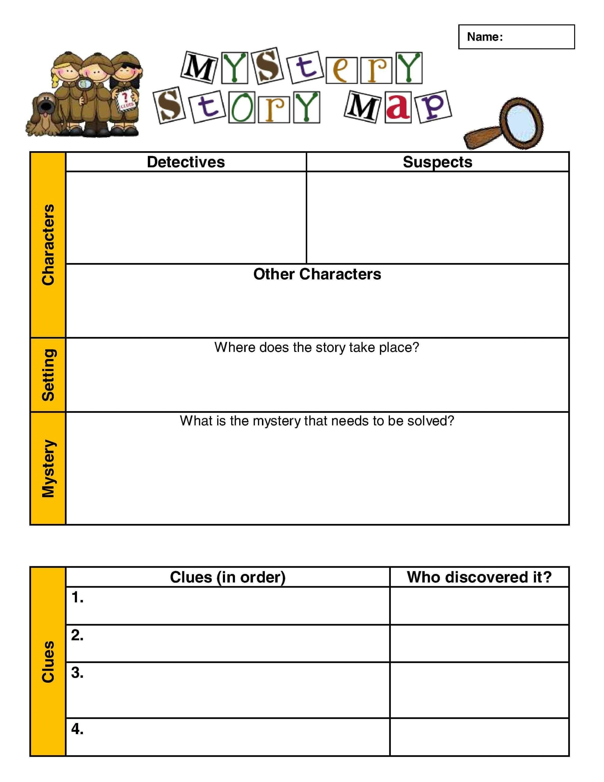 Teaching Genre Worksheets Investigating the Mystery Genre Scholastic