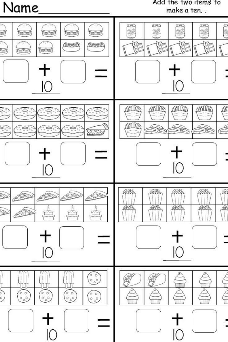 Ten Frame Addition Worksheets Free Addition Worksheet