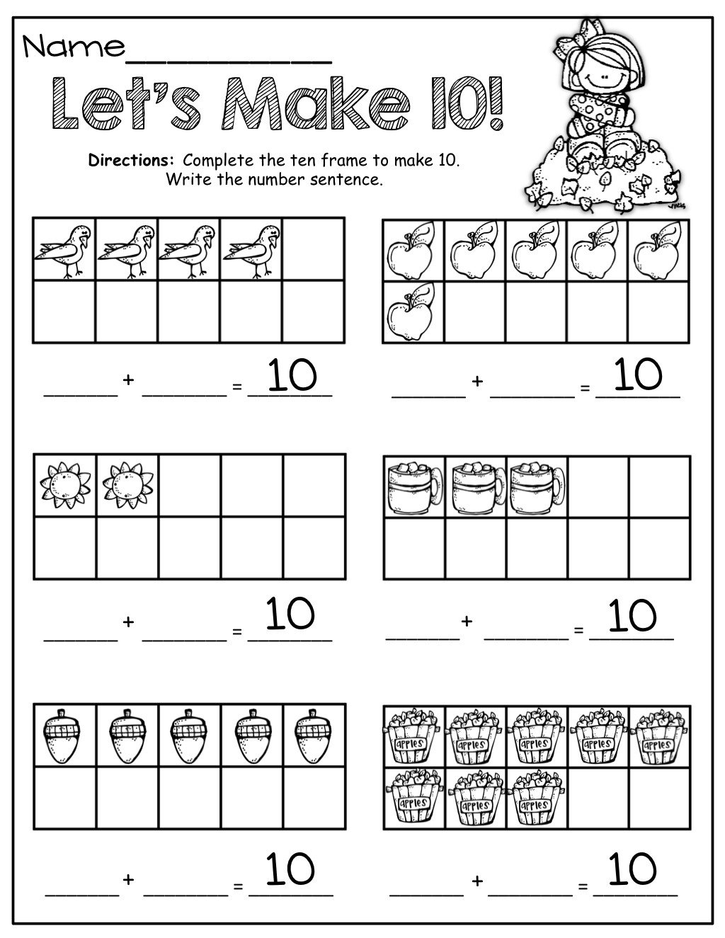 ten frames activities for first grade ten frame math for fall pinterest ten frames and making 10 worksheets pdf with 86dc4e5a0e f878cc0718da4fc1 frames
