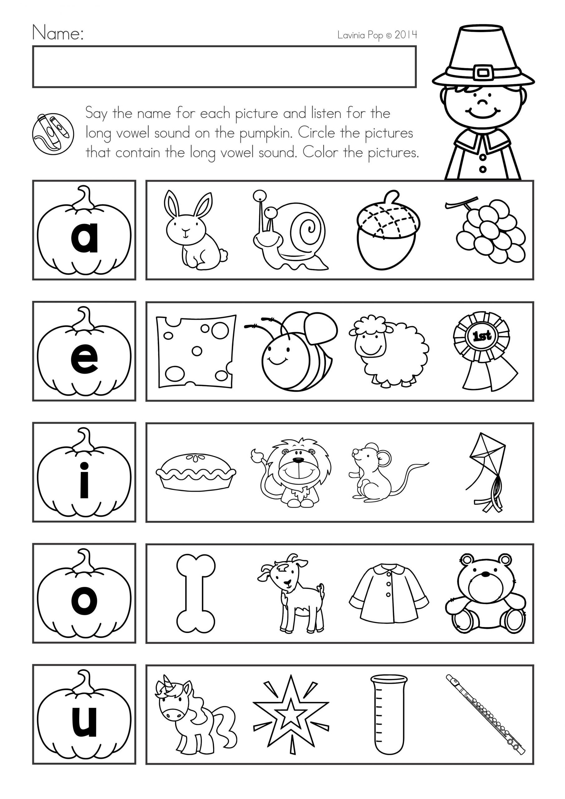 Thanksgiving Phonics Worksheets Thanksgiving Math & Literacy Worksheets and Activities
