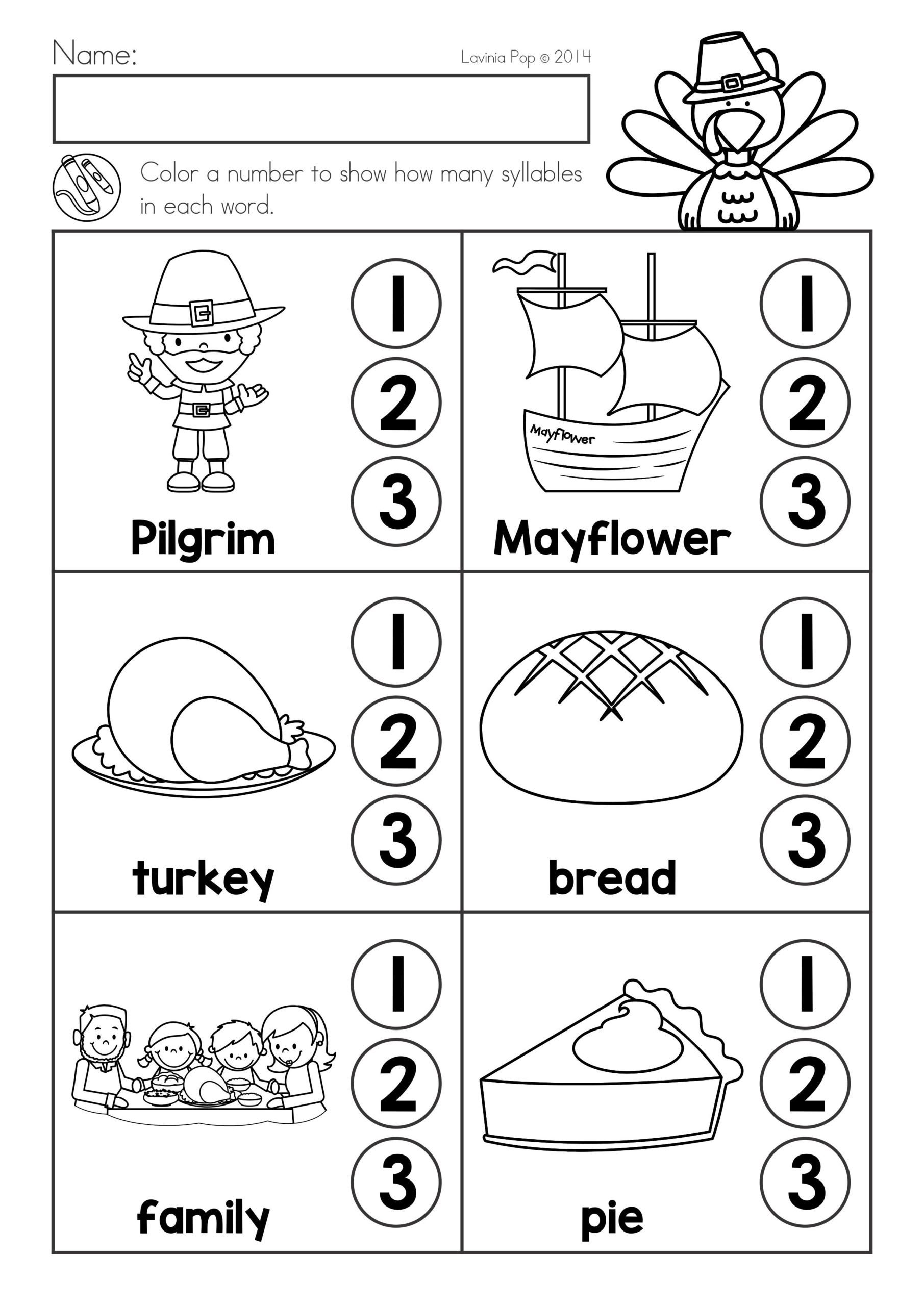 Thanksgiving Phonics Worksheets Thanksgiving Math Literacy Worksheets and Activities Phonics