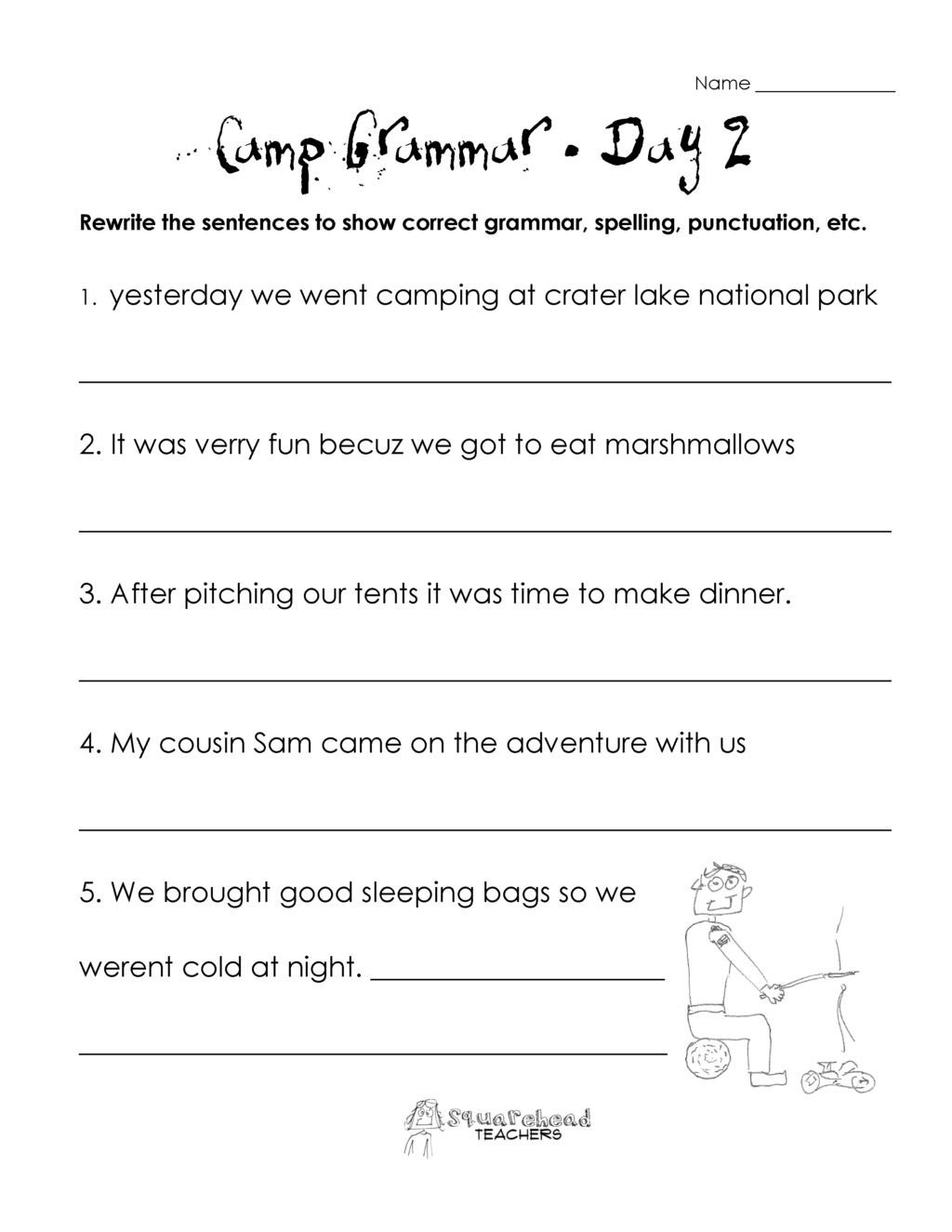 Third Grade Grammar Worksheet Worksheet Third Grade Grammar Worksheets 2nd Reading