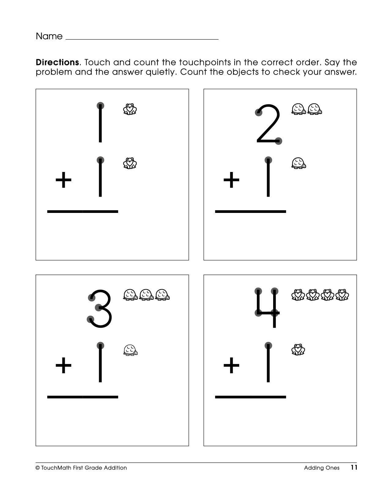 Touch Math Worksheet Generator touch Math Subtraction Worksheets Free Printable touchpoint
