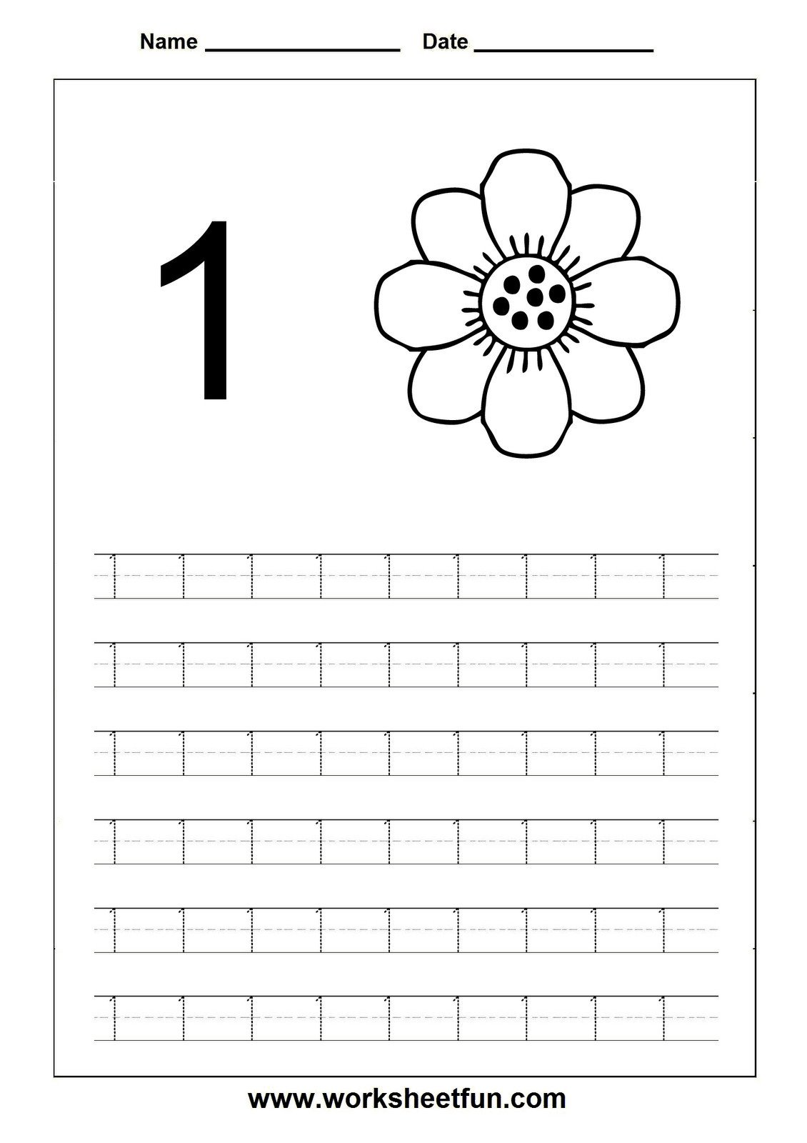 Tracing Number Worksheets 1 20 4 Worksheet Trace Number 1 20 Worksheet Printable