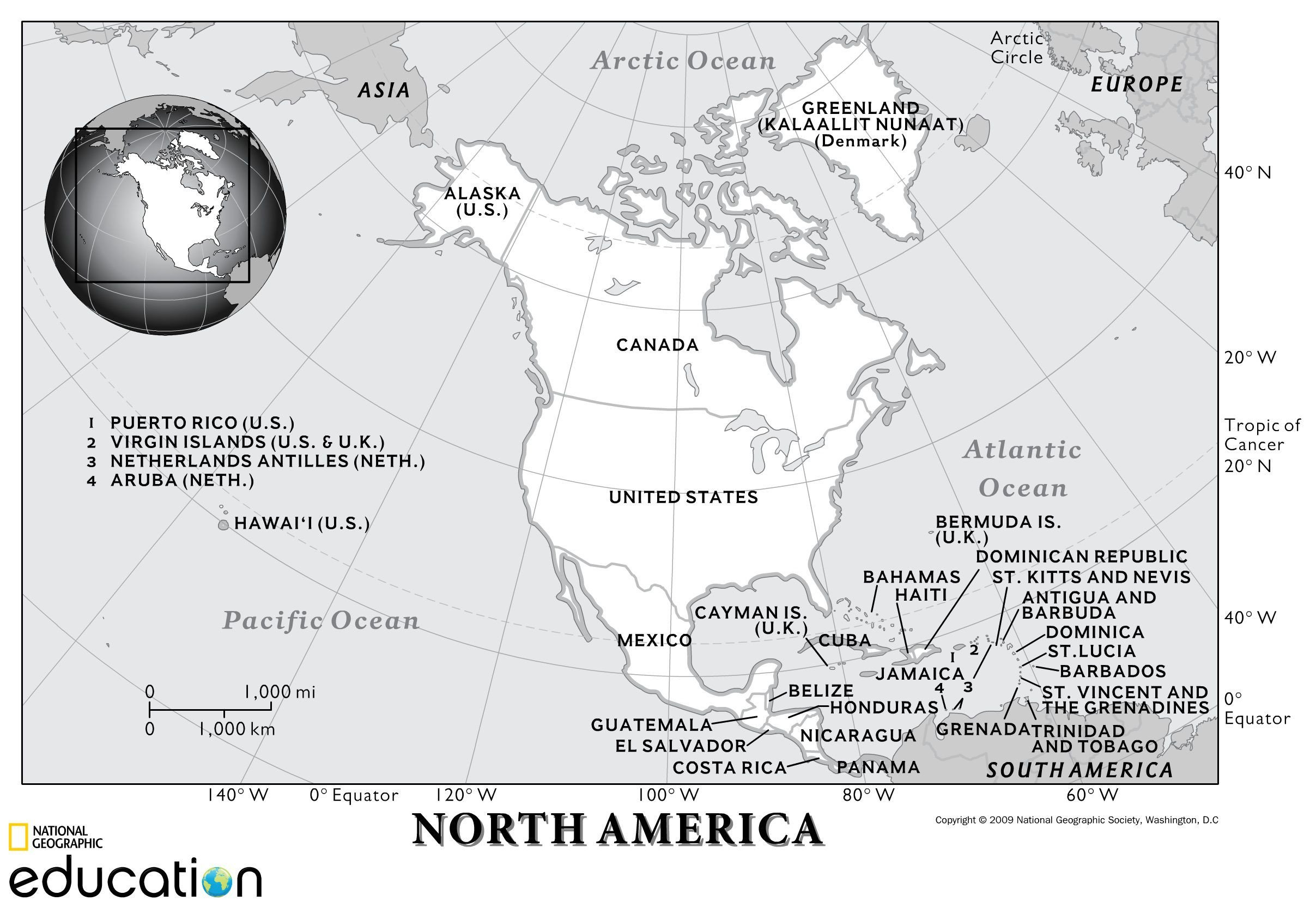 United States Map Quiz Worksheet north America Physical Geography