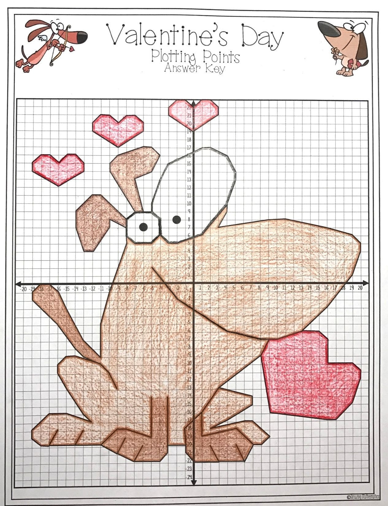 Valentine Day Coordinate Graphing Worksheets This Valentine S Day Math Activity Was so Much Fun I Love