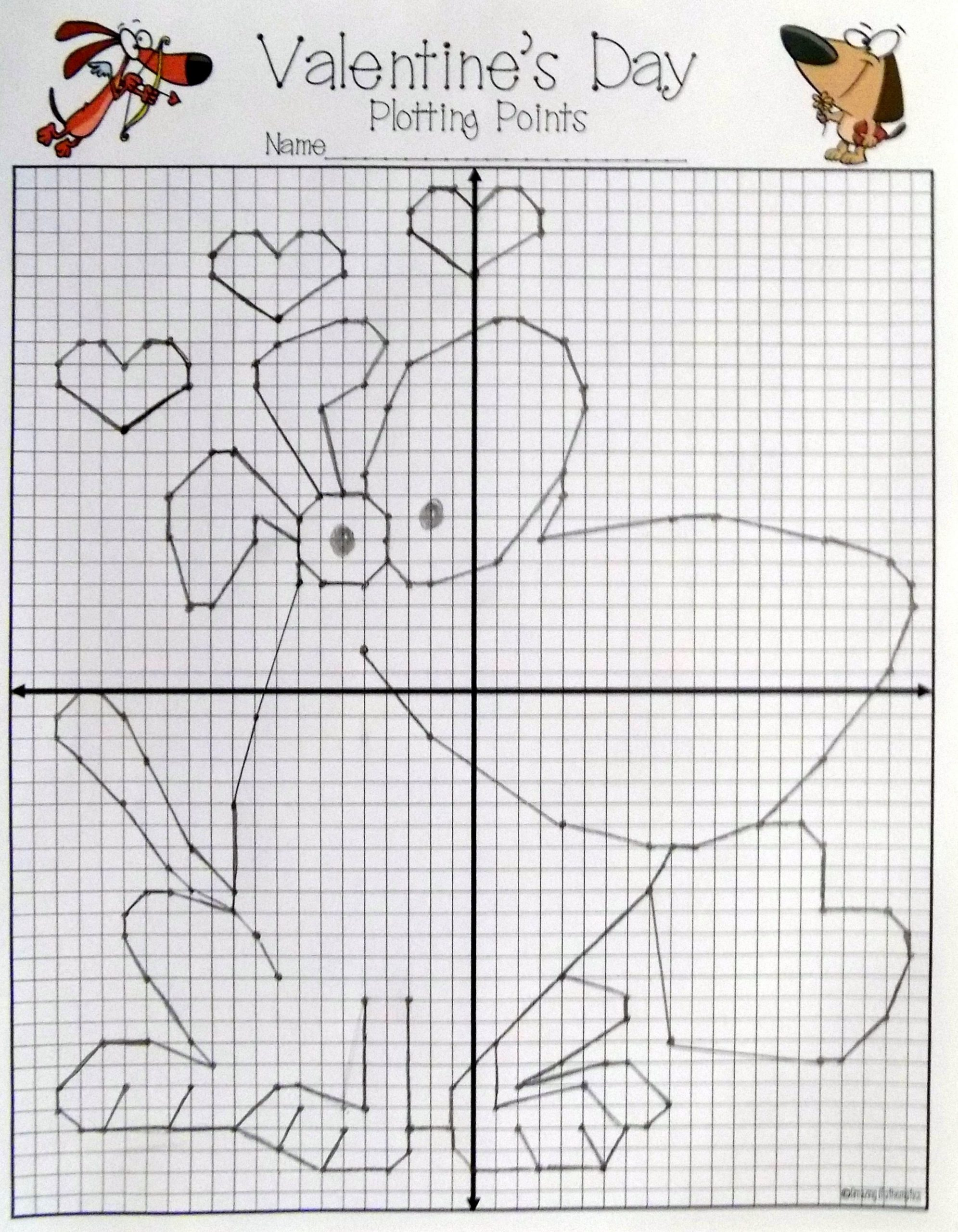 Valentine Day Coordinate Graphing Worksheets This Valentine S Day Plotting Points Activity Looks Perfect