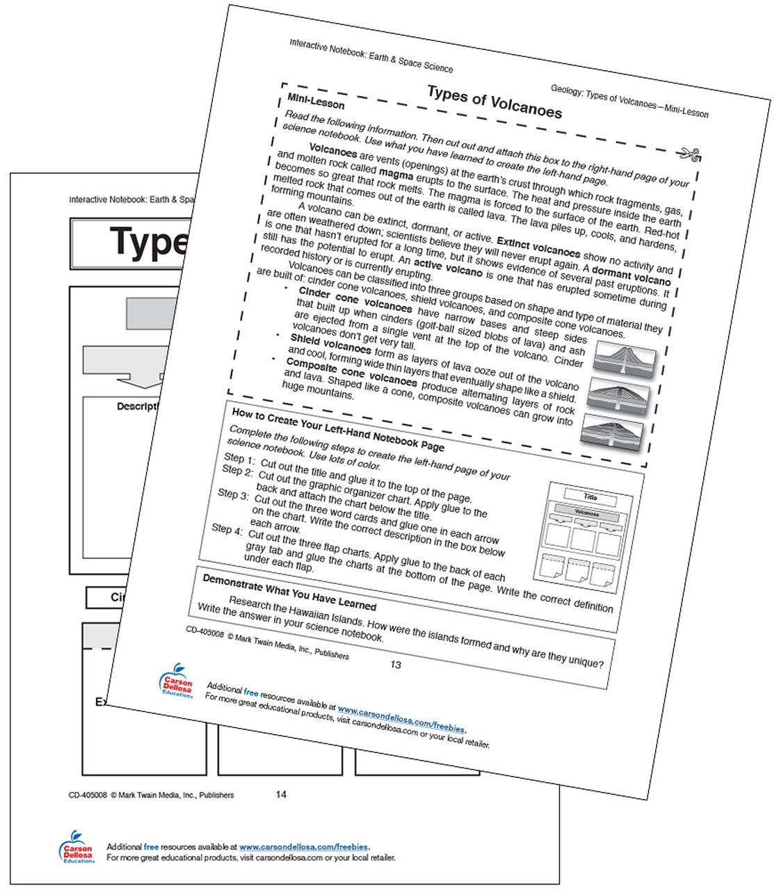 Volcano Worksheets High School Volcano Types Free Printable