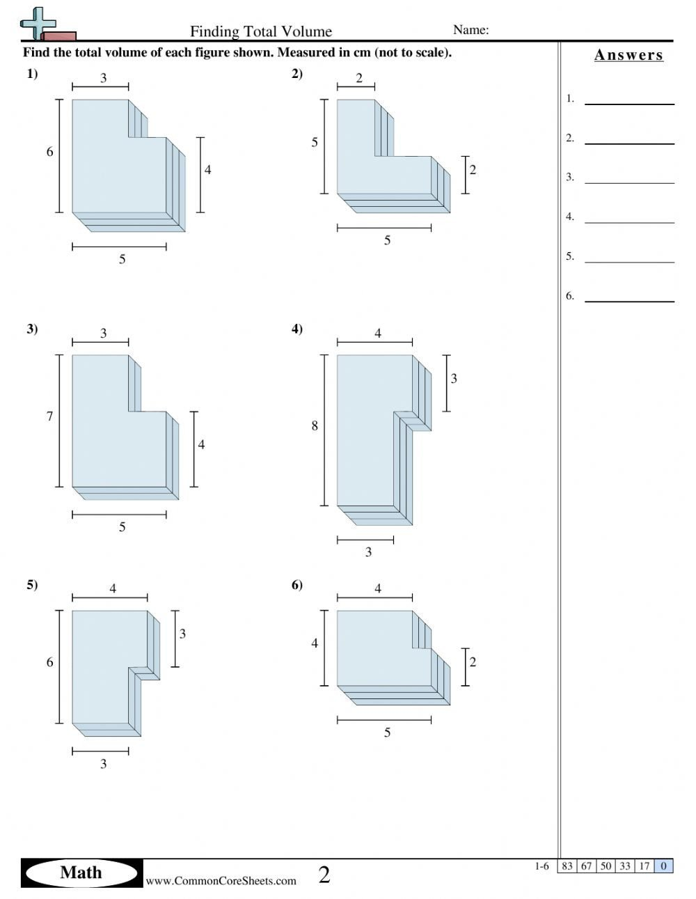 Volume Of Irregular Shapes Worksheet 3d Interactive Worksheet