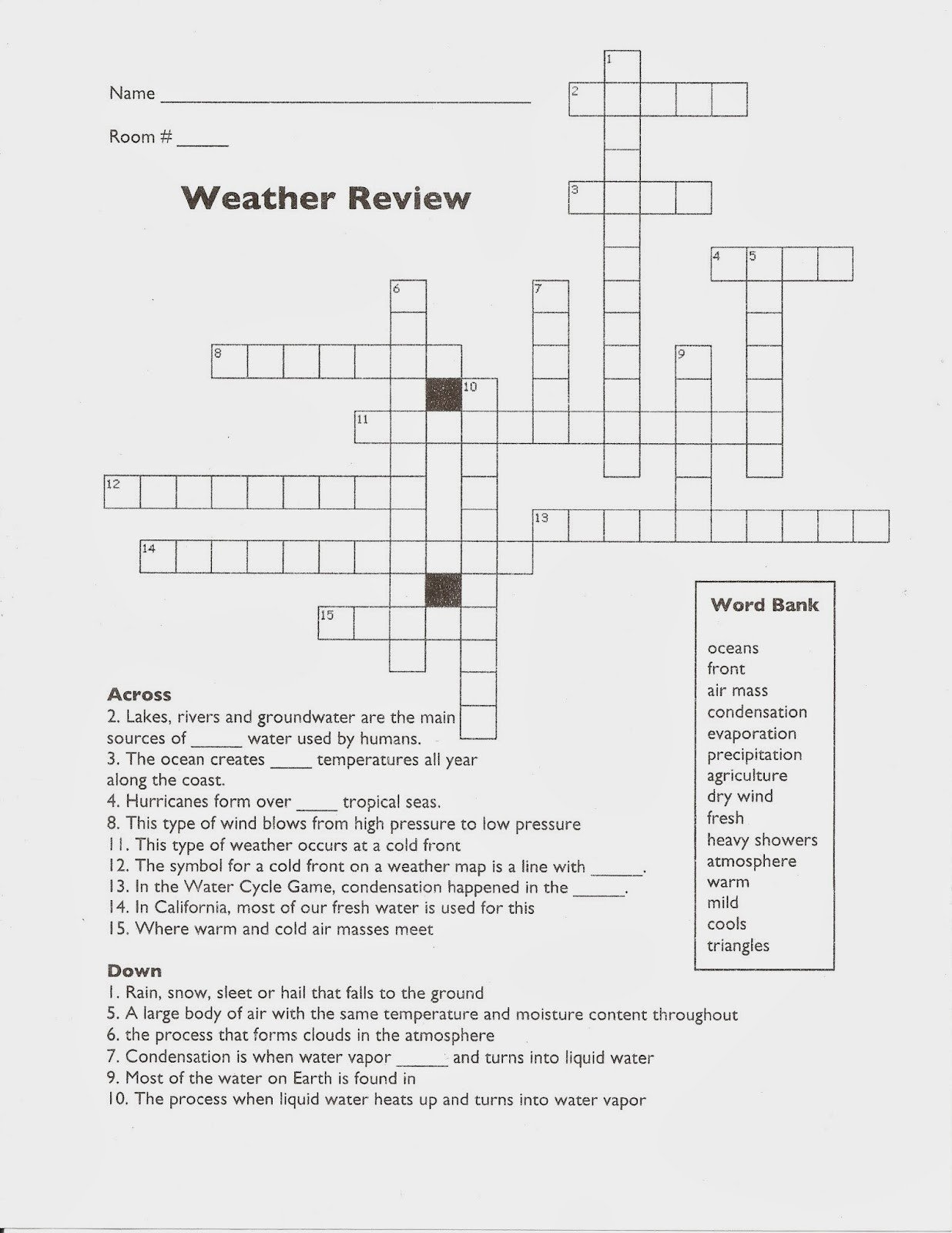 new 696 weather climate worksheets 5th