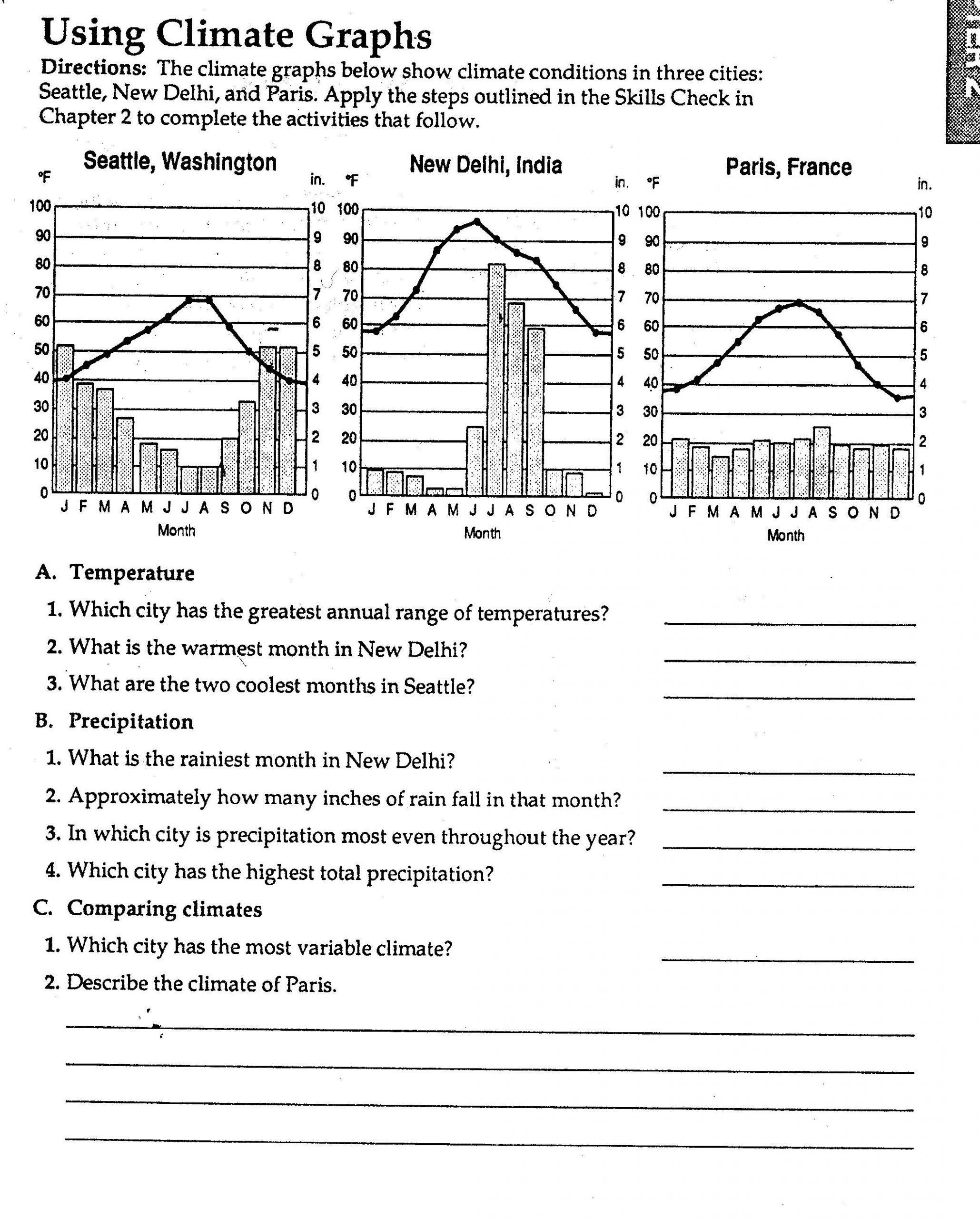 Weather and Climate Worksheets Weather Worksheet New 716 Free Worksheets About Weather and
