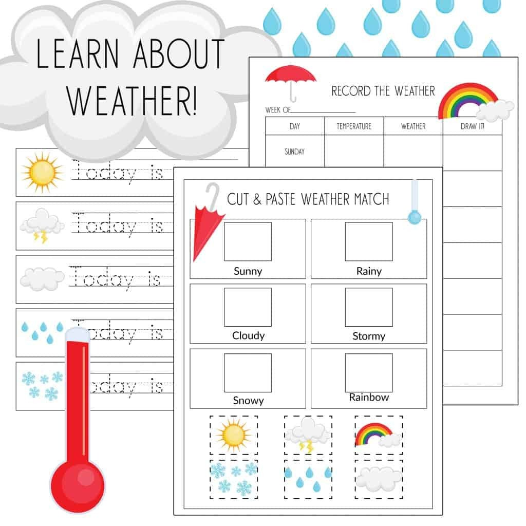 Weather Worksheets for 3rd Grade Record the Weather Writing Practice & Weather Match Game