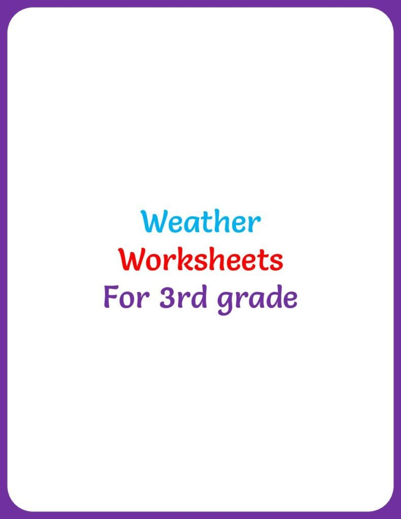 weather worksheets for 3rd grade