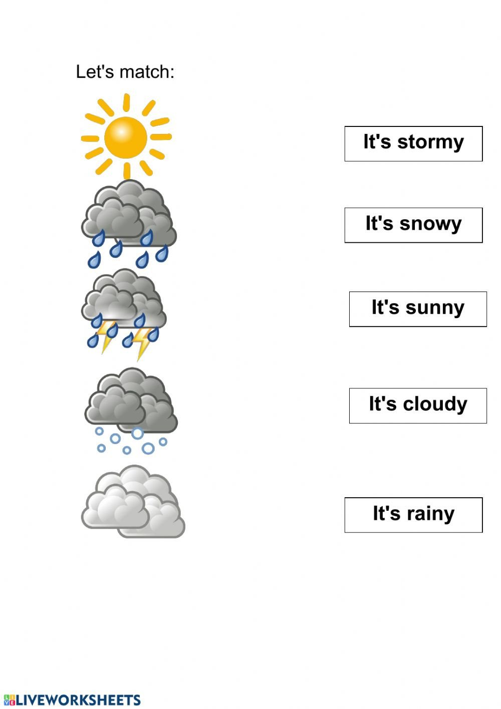 Weather worksheet for kids du uj