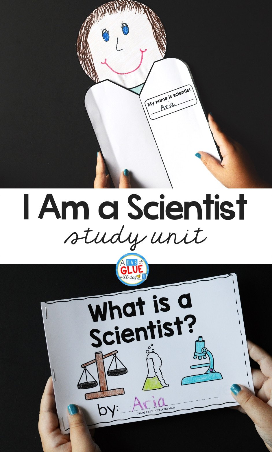 I am a Scientist Pinterest 2 images