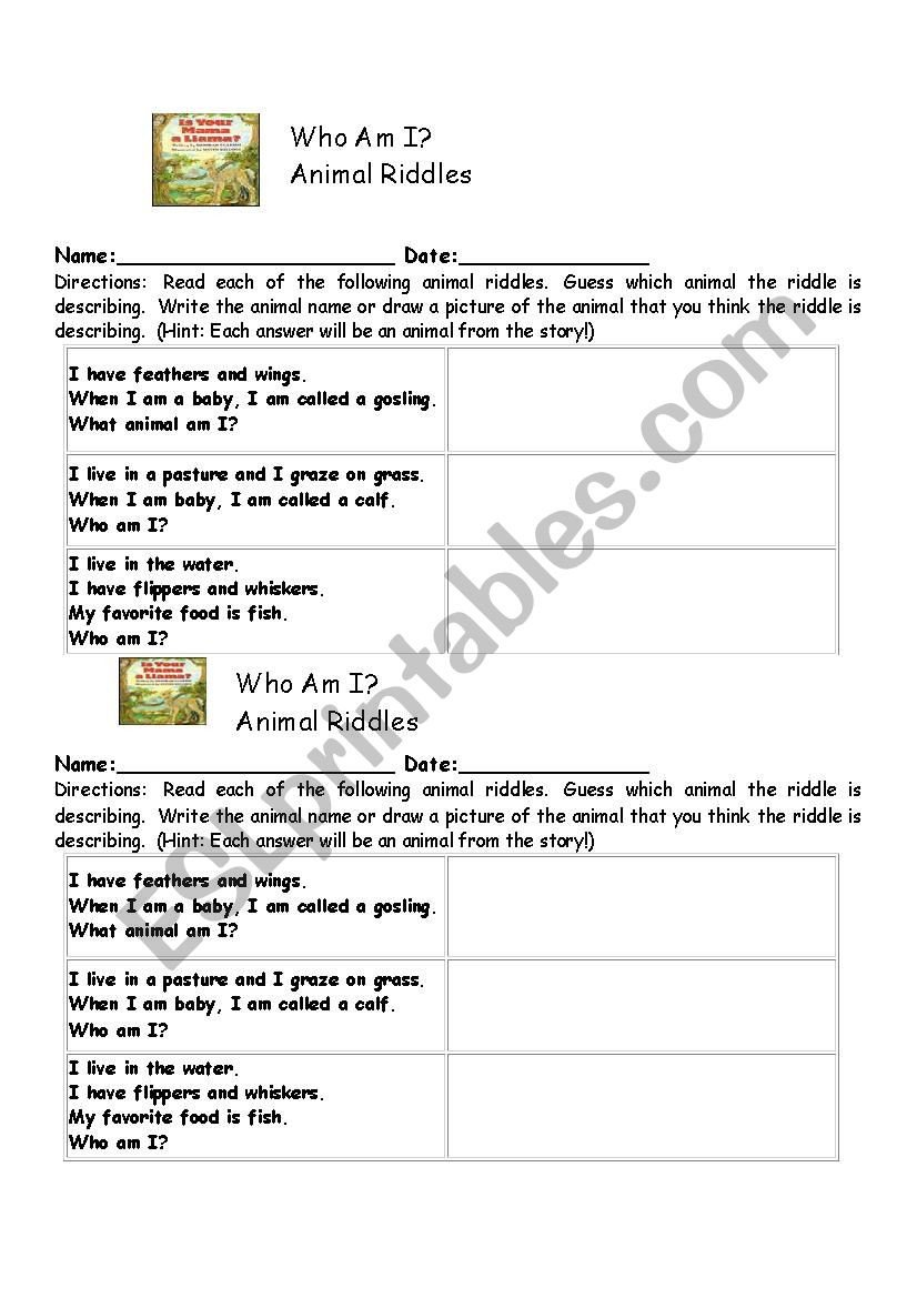 Who Am I Worksheet Answers who Am I Esl Worksheet by Kathysweetd
