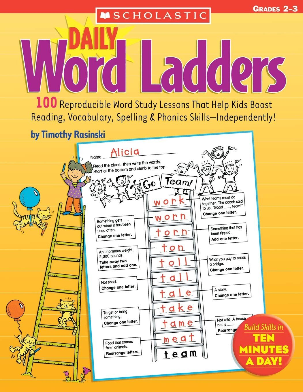 Word Ladder Worksheets Amazon Daily Word Ladders Grades 2–3 100 Reproducible