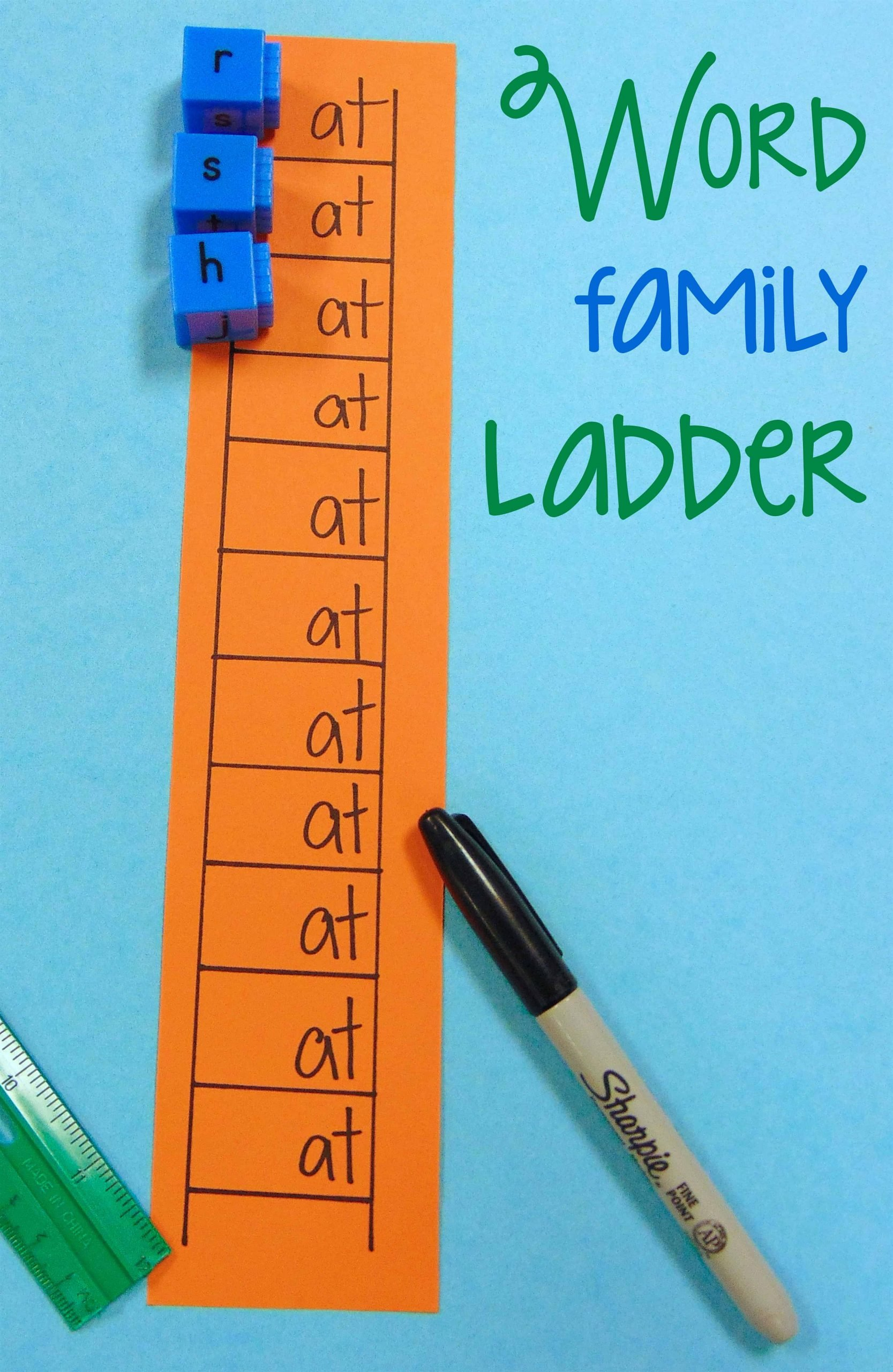 Word Ladder Worksheets Diy Word Family Ladder Center Activity Classroom Hack