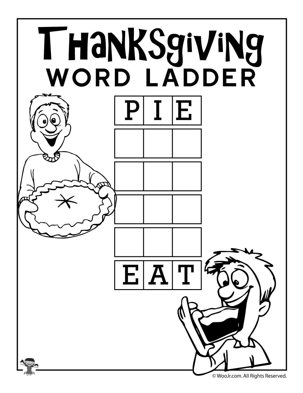 Word Ladder Worksheets Pie Eat Word Ladder