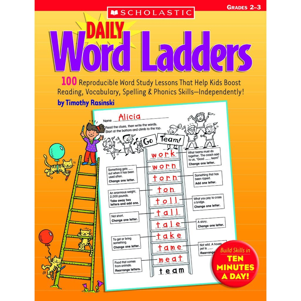Word Ladder Worksheets Scholastic Daily Word Ladders Grades 2–3