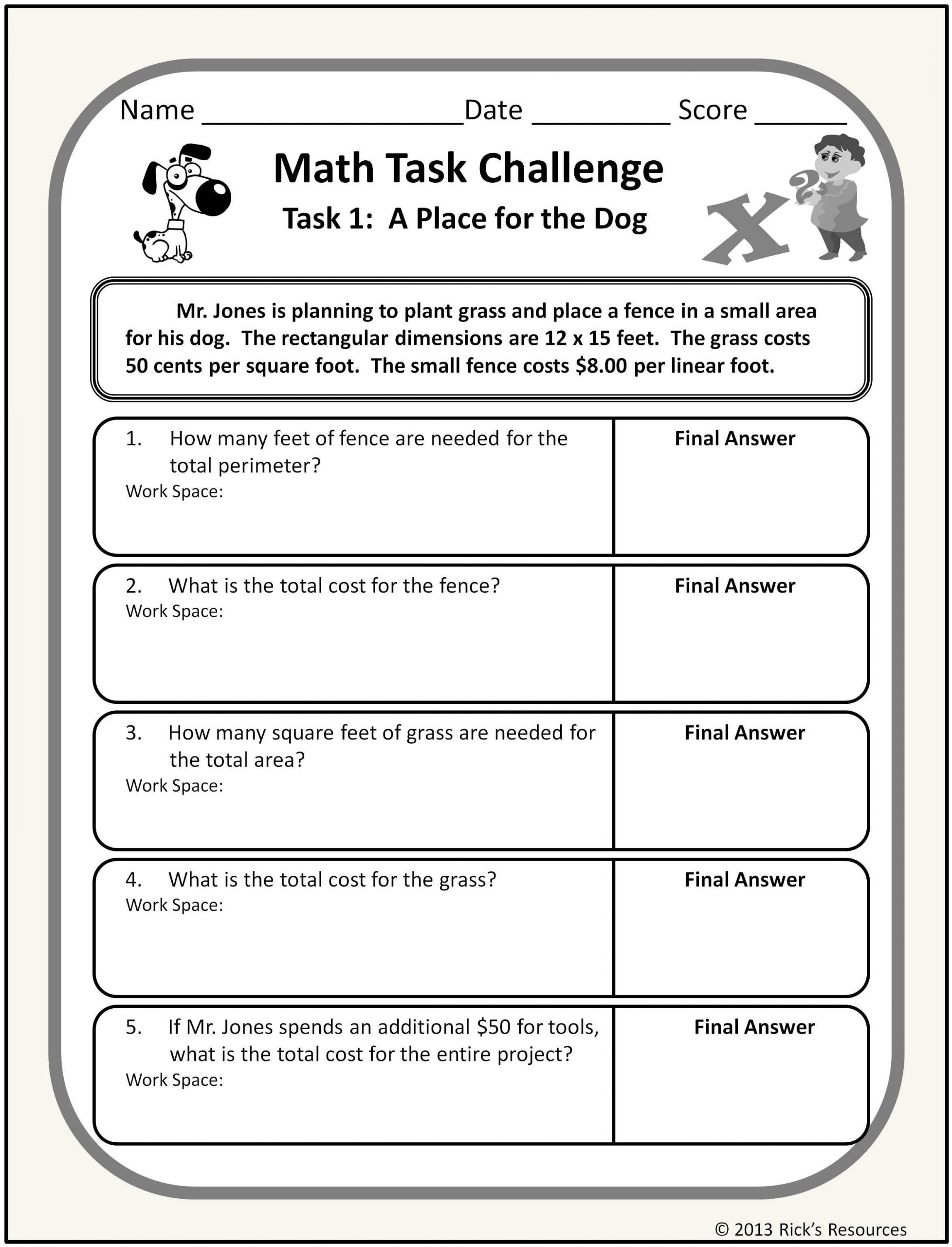 Word Problems Kindergarten Worksheets Math Word Problem Challenges Worksheets