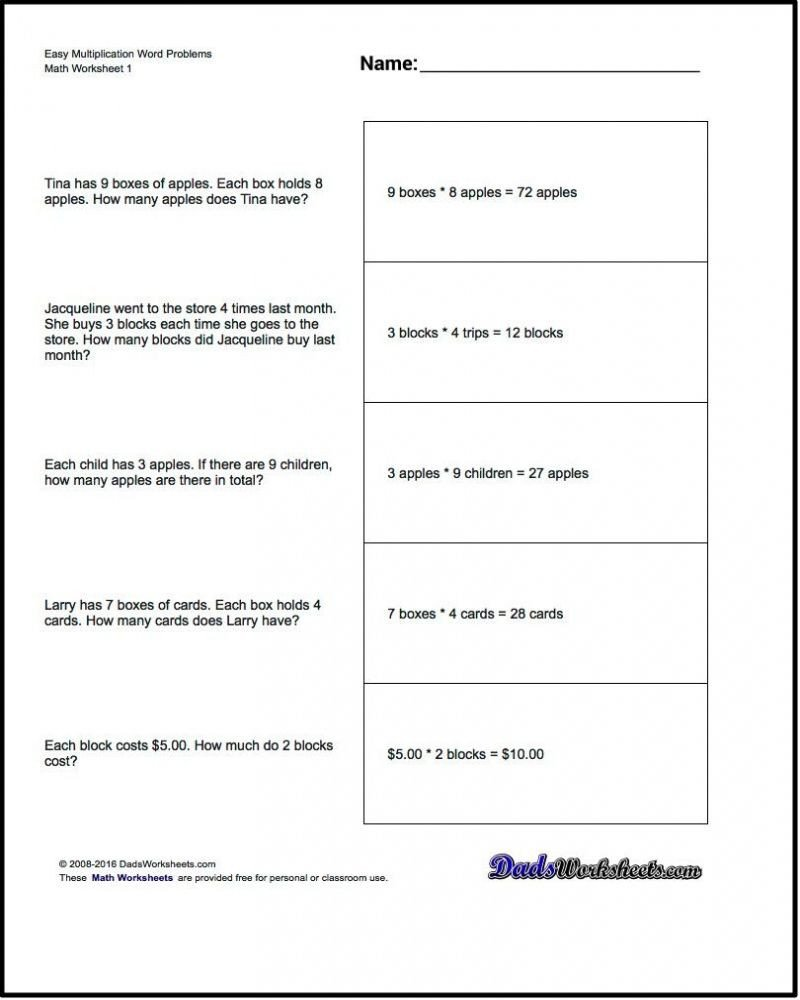 Word Problems Worksheets 1st Grade Free Math Worksheets for 1st Grade Word Problems