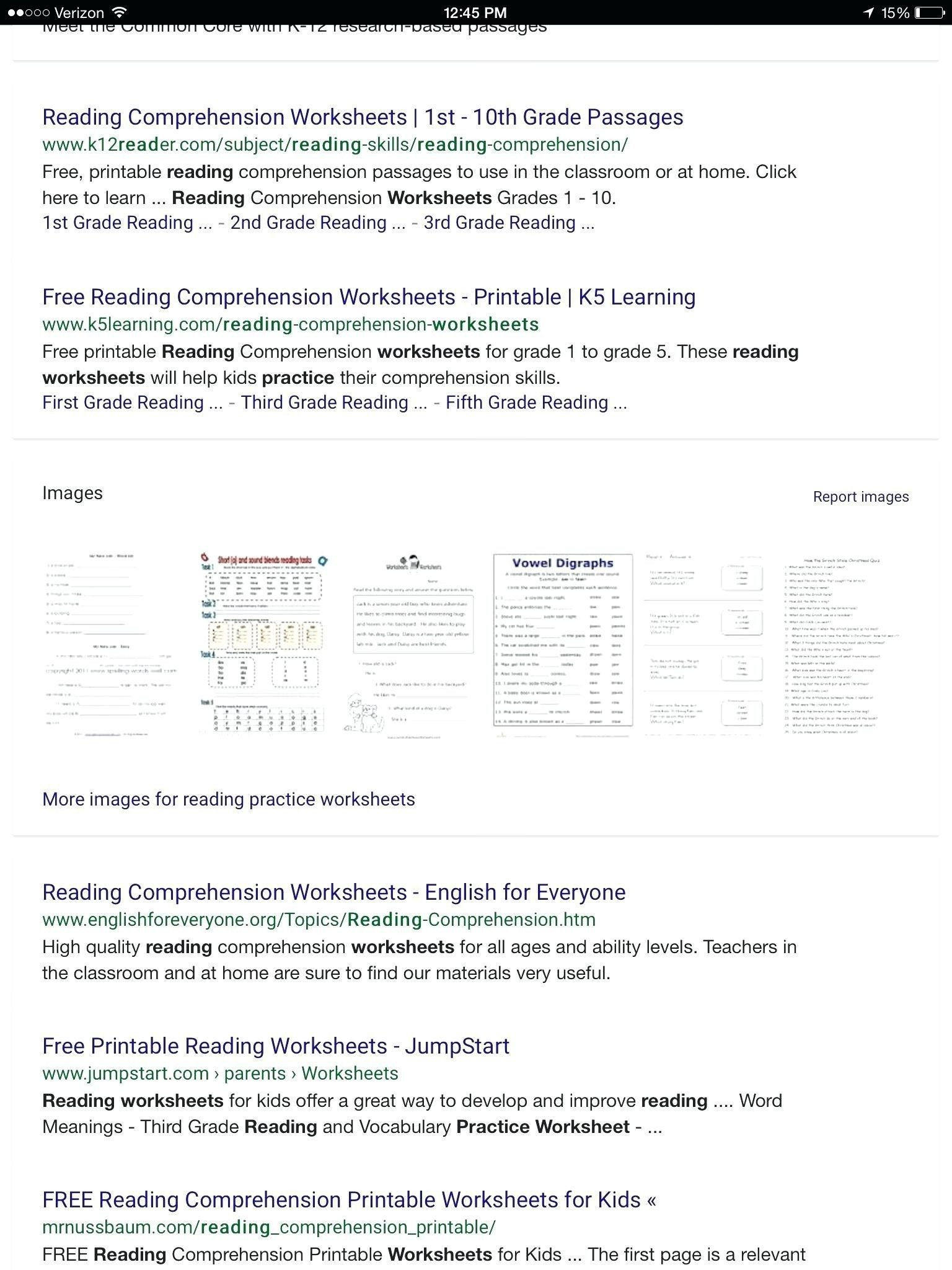 reading worksheets for 3rd graders free printable