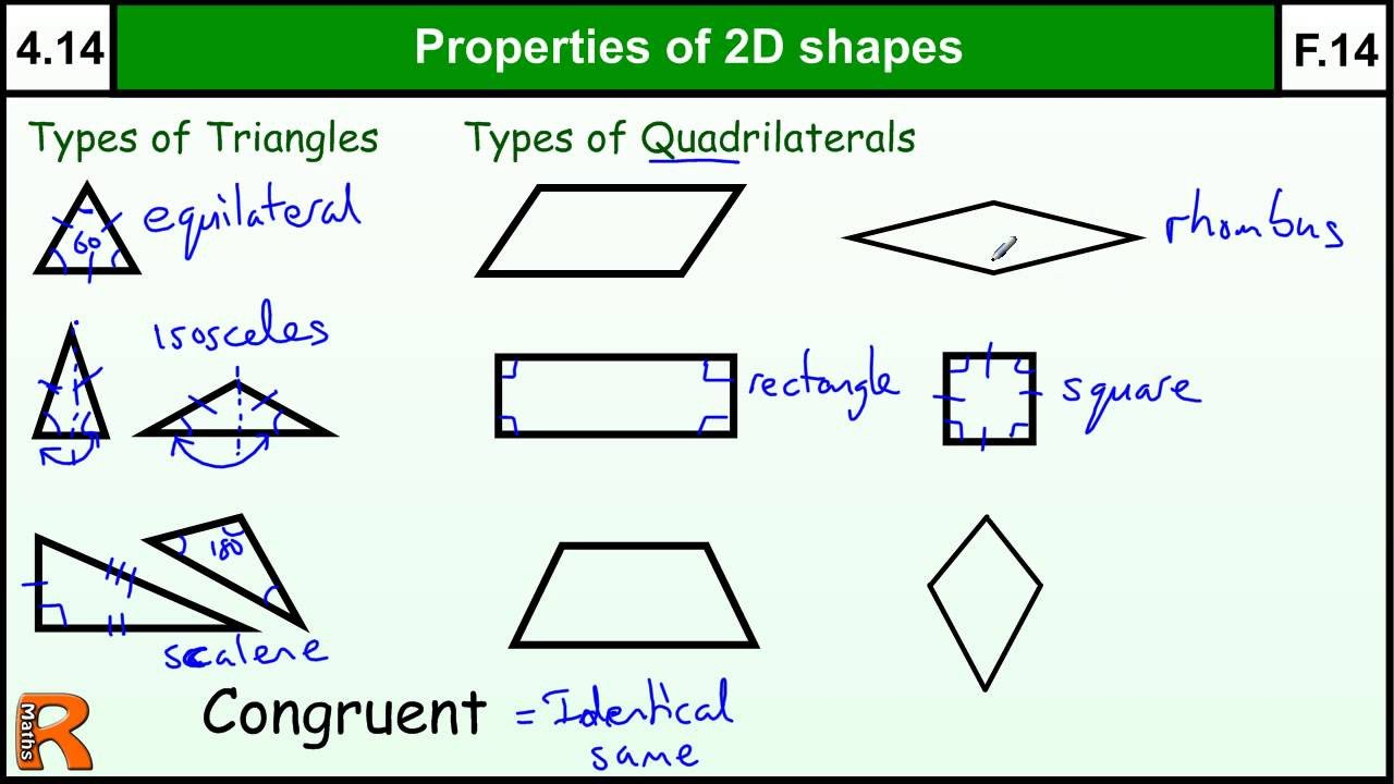 2d Shapes Worksheets Kindergarten 4 14 Properties Of 2d Shapes Basic Maths Core Skills Level 4