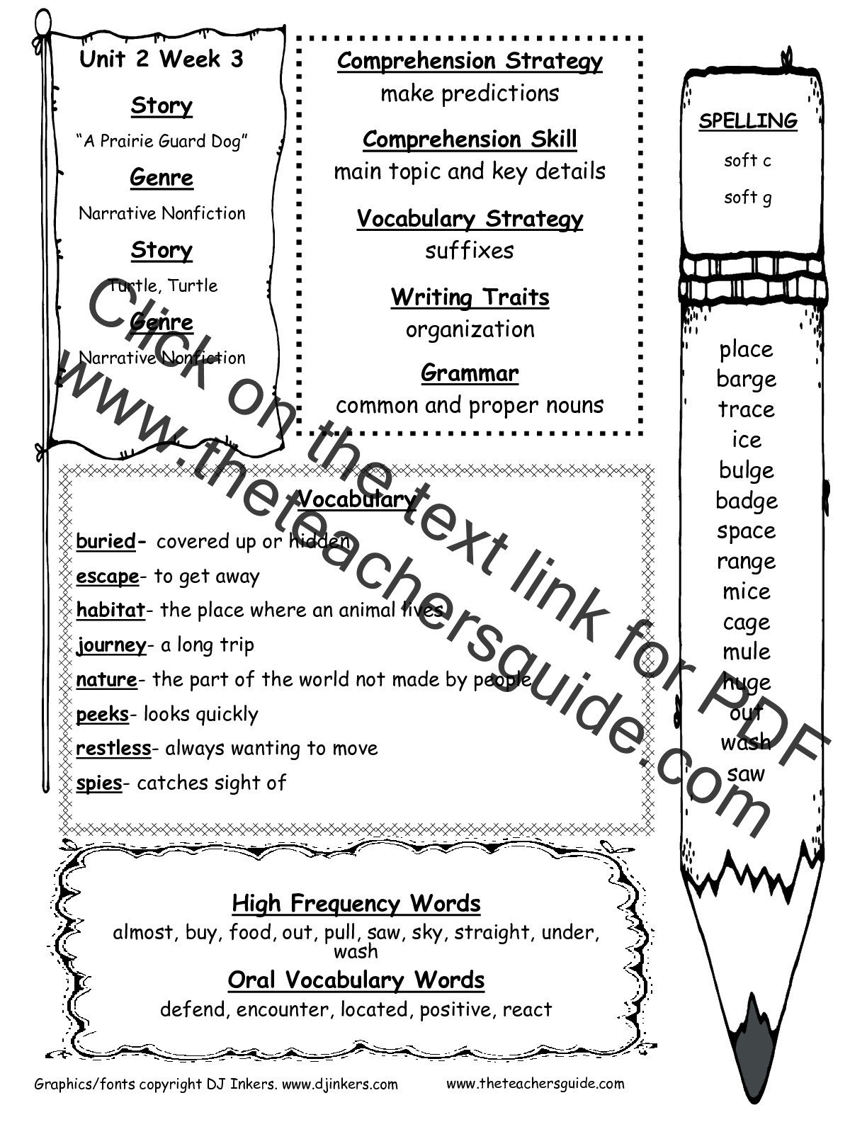 2nd Grade Proper Nouns Worksheet Wonders Second Grade Unit Two Week Three Printouts