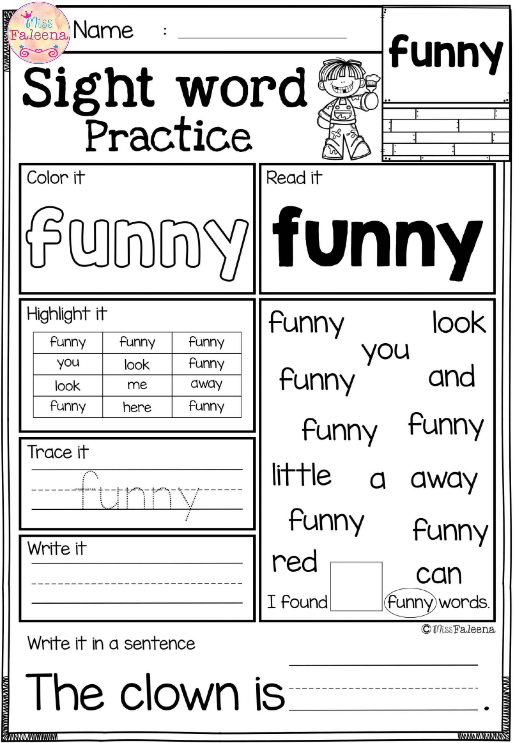 2nd Grade Sight Word Worksheets Free Sight Word Practice