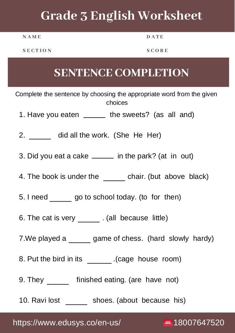 3rd Grade Grammar Worksheets Free 3rd Grade English Grammar Worksheet Free Pdf