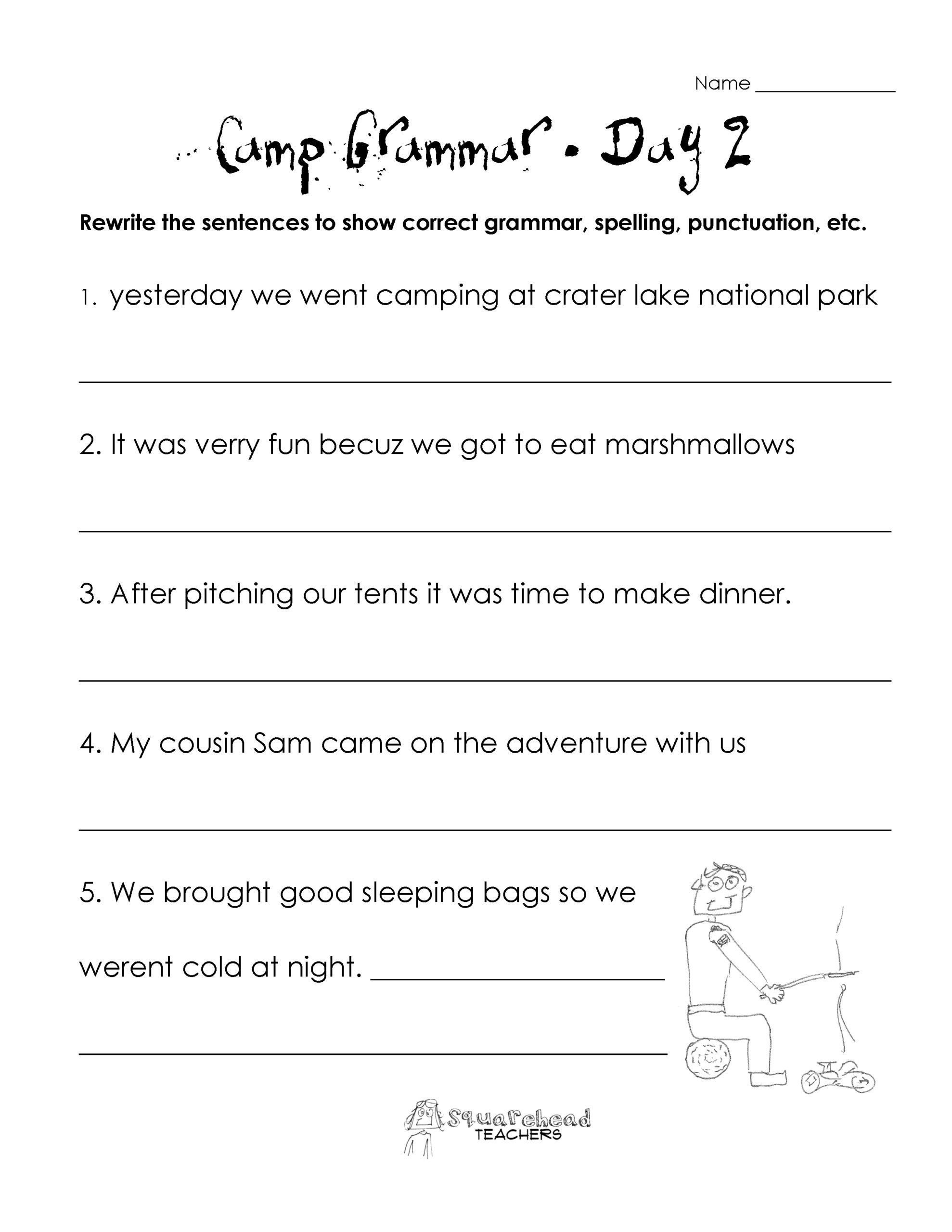 3rd Grade Grammar Worksheets Free Free 3rd Grade Science Worksheets Printable and Grammar for