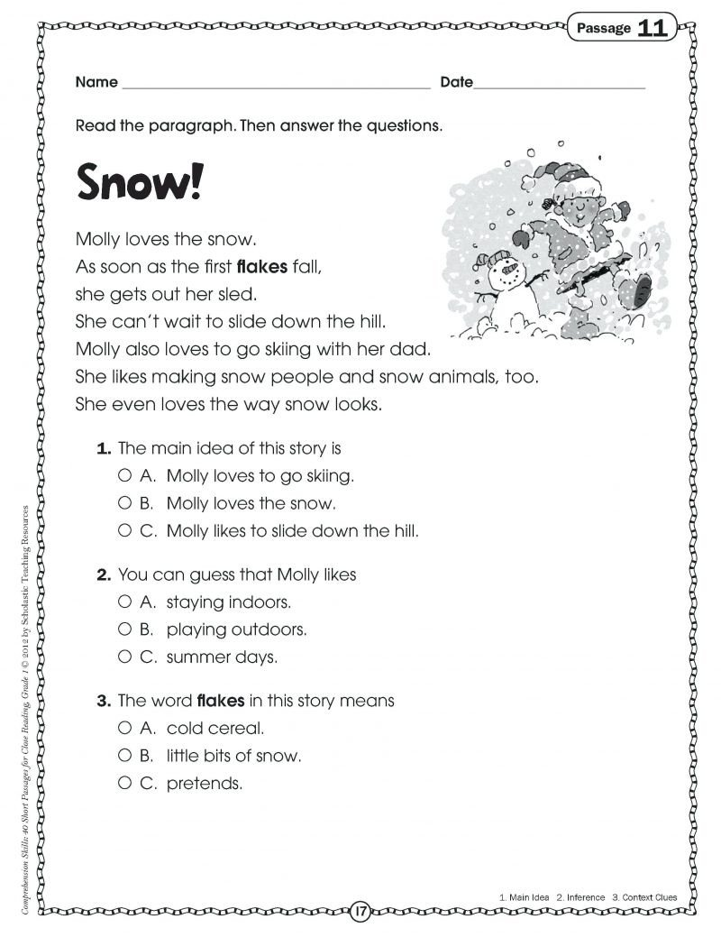 3rd Grade Main Idea Worksheets Worksheets Main Idea Worksheets 4th Grade Pdf Free Main