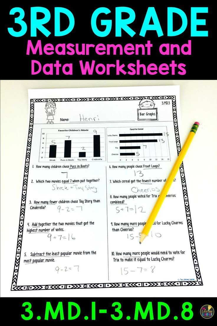 3rd Grade Measurement Worksheet 3rd Grade Measurement and Data Worksheets