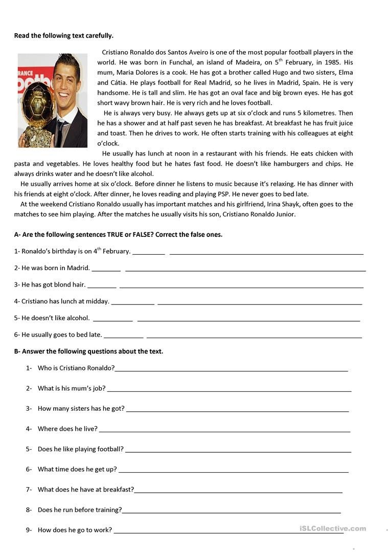 5th Grade theme Worksheets Test 5th Grade English Esl Worksheets for Distance