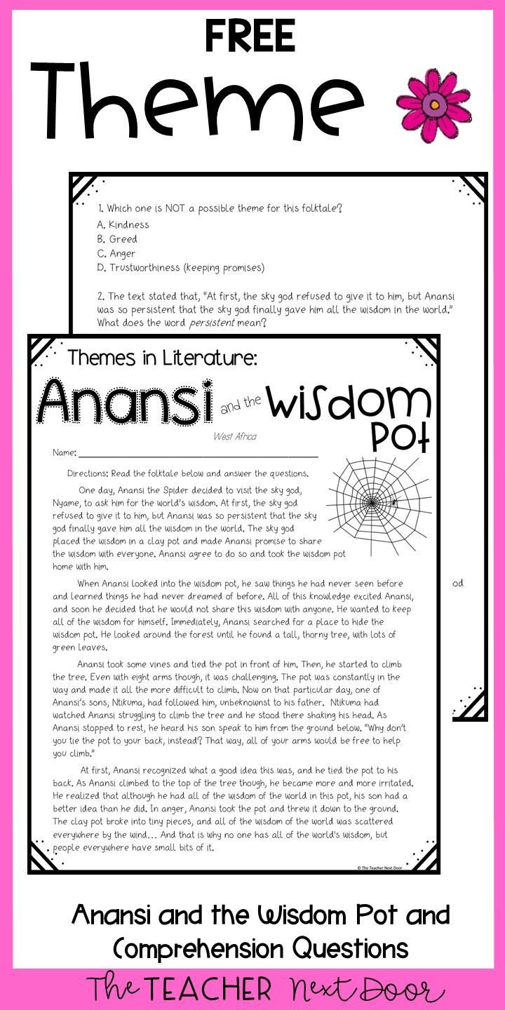 5th Grade theme Worksheets theme Freebie for 4th and 5th Grades