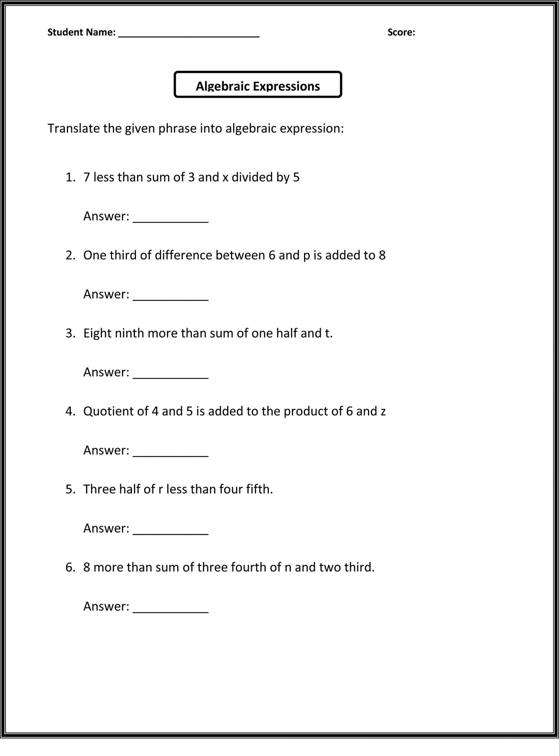 6th Grade Sentence Structure Worksheets 6th Grade Worksheets to Print