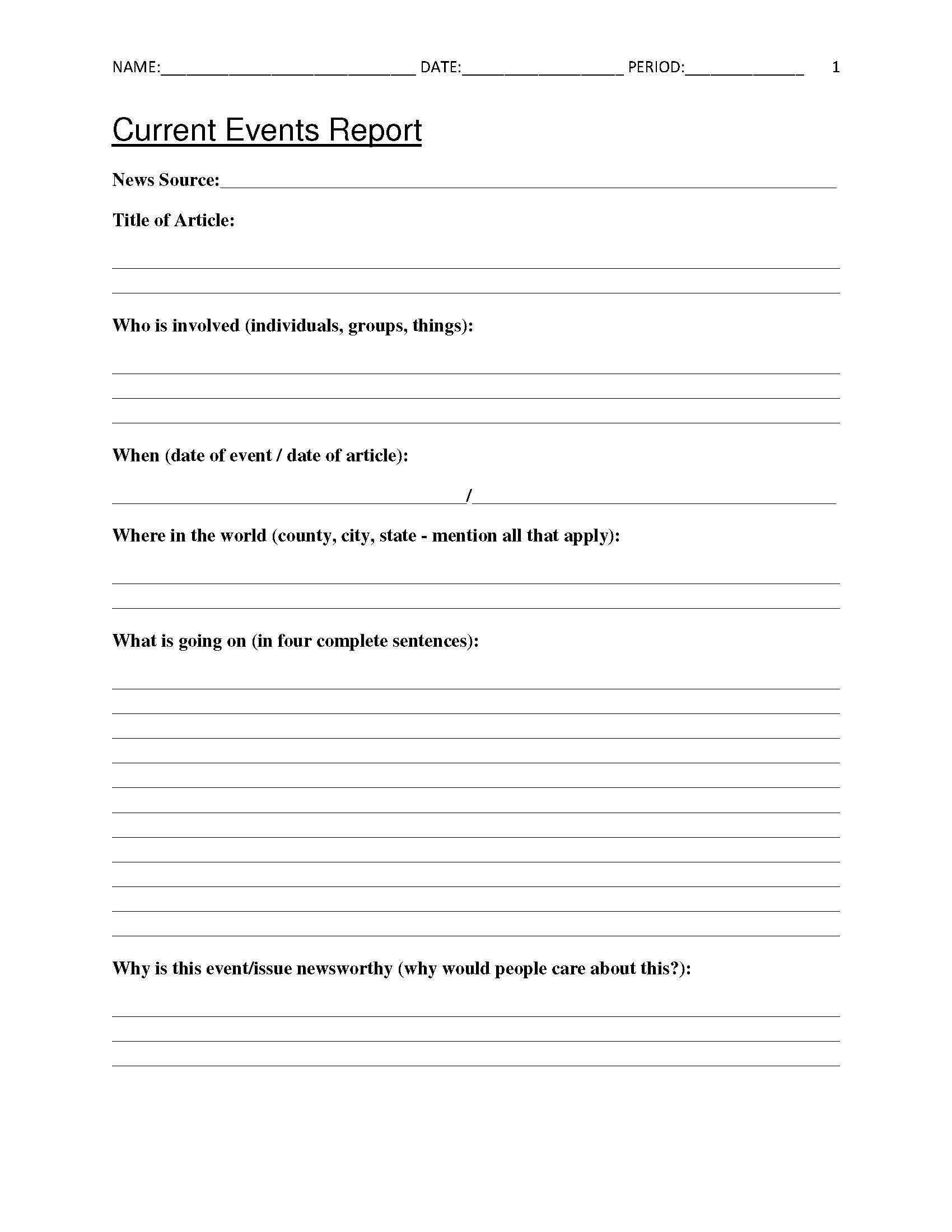 6th grade summarizing worksheets free current events report worksheet for classroom teachers of 6th grade summarizing worksheets