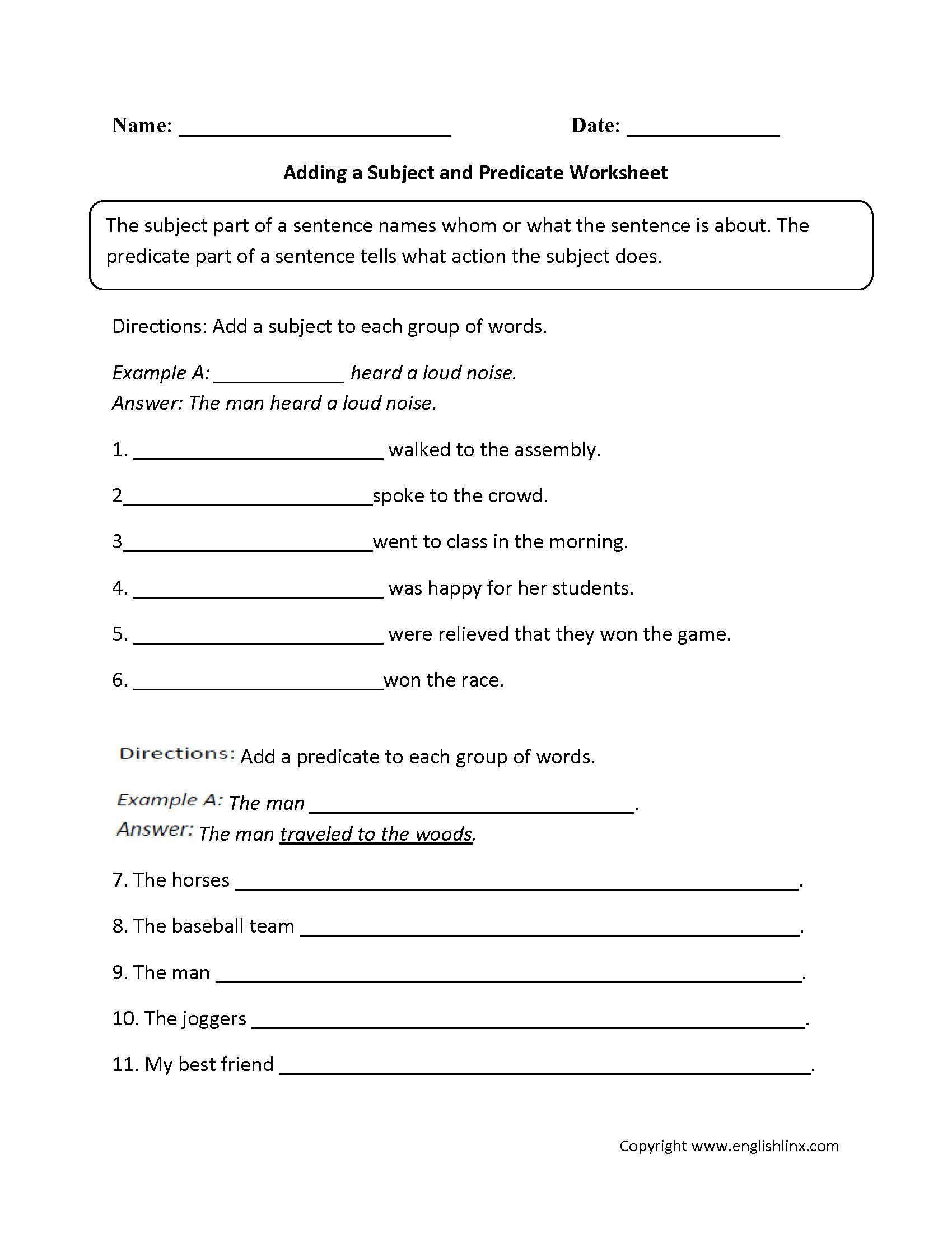 9th Grade Grammar Worksheets Pdf 4 English Grammar Worksheets Printables Sentences
