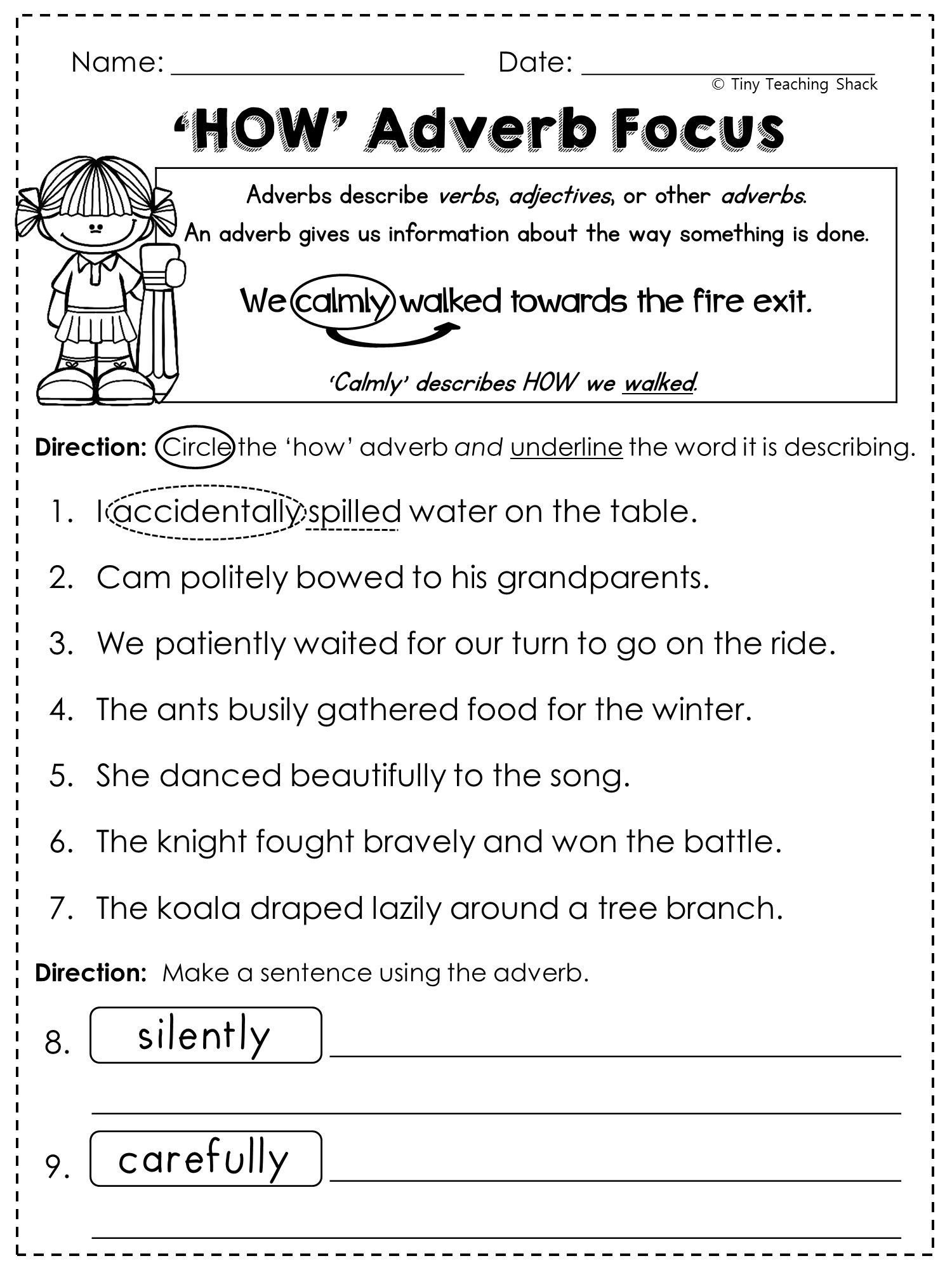 Adjectives Worksheet 2nd Grade Math Worksheet Grade English Worksheets Printable and