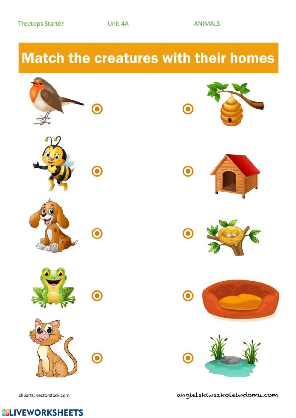 Animal Homes Worksheet Animals and their Homes Interactive Worksheet