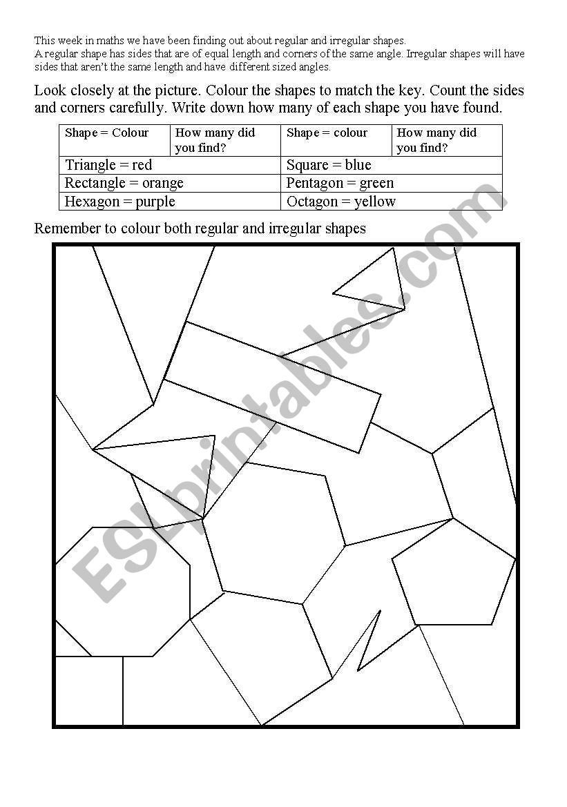 Area Irregular Shapes Worksheet English Worksheets Irregular Shapes Worksheet