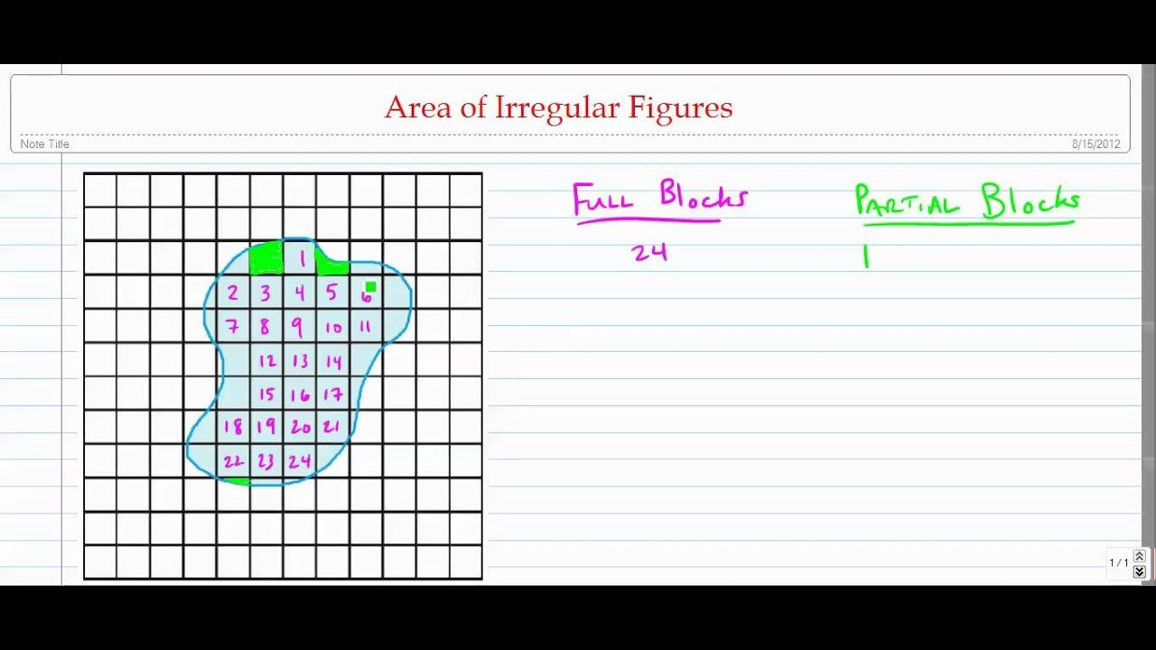 Area Irregular Shapes Worksheet Estimating area Of Irregular Figures