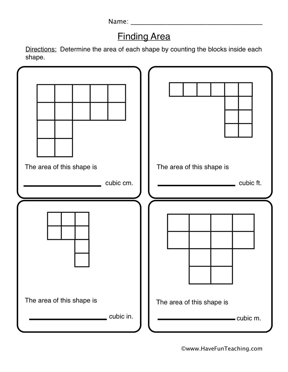 Area Irregular Shapes Worksheet Finding area Of Irregular Shapes Worksheet