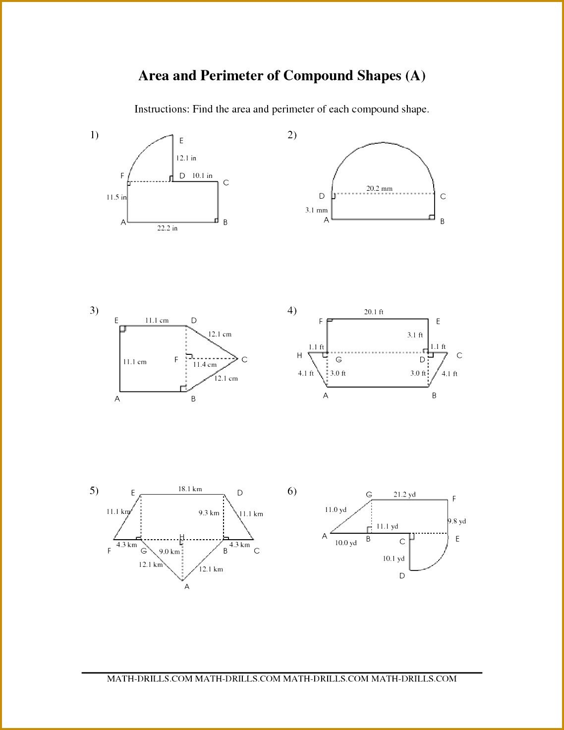 Area Irregular Shapes Worksheet Irregular Shapes area and Perimeter Worksheet