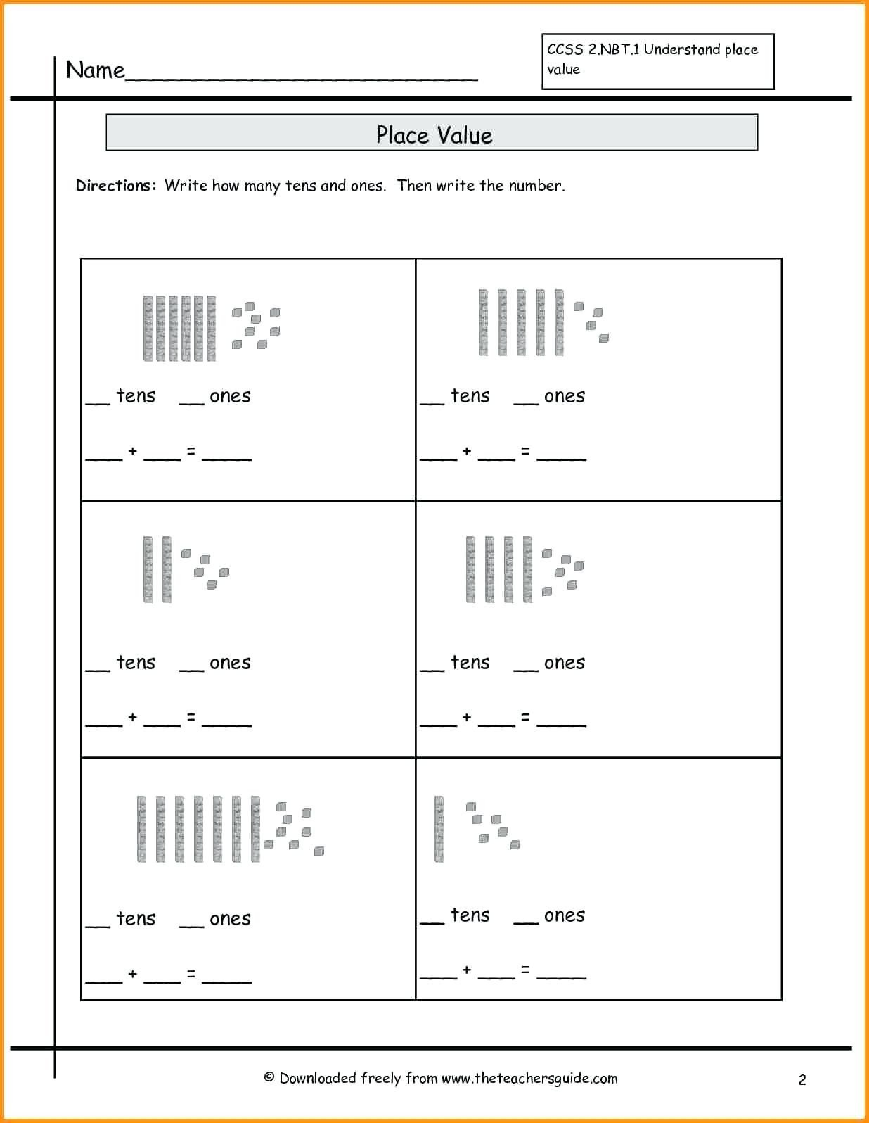 Base Ten Model Worksheets 4 Free Math Worksheets Second Grade 2 Subtraction